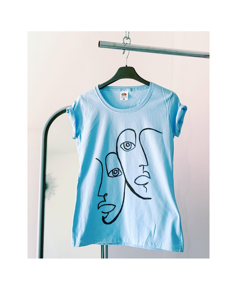 Tricou Blue Faces